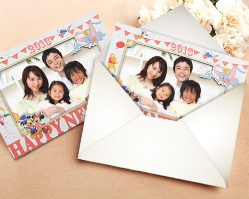 年賀カード ディズニーフォトスタンドタイプ サポート画像8 (拡大)