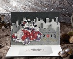 年賀カード ディズニーポップアップタイプ